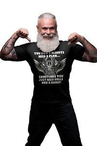 Sometimes You Just Need Balls And A Beard Mens ORGANIC Cotton T-Shirt Motorbike