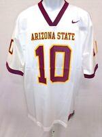 Arizona State Sun Devils NCAA Football Jersey White 10 Maroon Neck