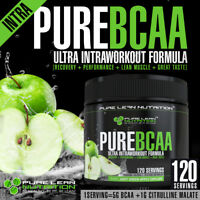PURE BCAA INTRA WORKOUT 120 SERVES GREEN APPLE BRANCH CHAIN AMINO ACIDS RECOVERY