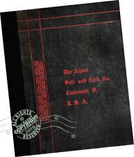 Alpine Safe + Lock Co 1913 Samples CATALOGUE Fire Burglar Proof Safes