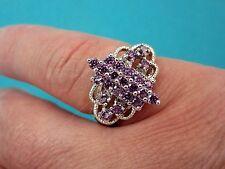 925 Silver Ring Purple Amethyst, Dainty, Ladylike Size M 1/2, US 6.50 (rg0978)