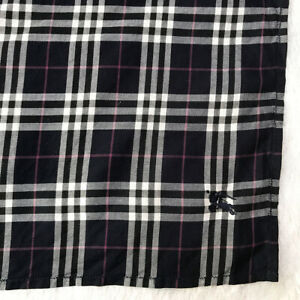 Vintage Scarf Cotton Handkerchief Purple Navy Novacheck Signature Bandana Square