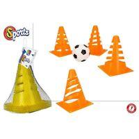 Set 4 conos entrenamiento fútbol con balón - Colorbaby