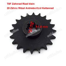 T8F Zahnrad Rizel klein 20 Zähne Ritzel Antriebsritzel Kettenrad für Mini Dirt