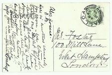 Koln Cathedral, PPC Alloa double circle postmark no 7, 1905 to London , Bullseye