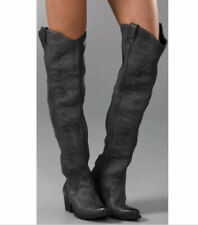 Jeffrey Campbell Slither With Flame Gray Over The Knee Boots Size 8
