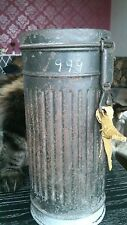 WW2 WWII ORIGINAL German ARMY GAS MASK CAN M38 CONTAINER BOX WEHRMACHT