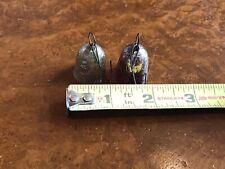 2 Rare Antique Small Glass Ornaments