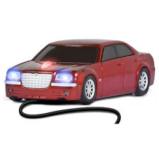Racing Mice Chrysler 300 C Car Vehicle Wired USB Optical Cute Funny Red Mouse