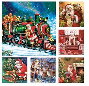 Christmas Paper Napkins for Decoupage Craft Serviettes Santa 33x33cm 3PLY x 20