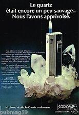 Publicité advertising 1977 Le Briquet Quartz Sarome