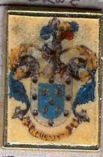 Héraldique BROCHES métallique du nom de famille : SOURCES