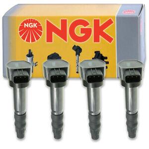 4 pcs NGK Ignition Coil for 2004-2012 Mitsubishi Galant 2.4L L4 - Spark Plug ob