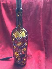 NEW Bling LIGHTS LAMP Electric TARARA Cork Empty WINE BOTTLE & Yellow LEDs