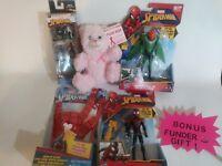Spider-Man Toy Lot Action Figures Marvel's Vulture DIECAST Set kid Aracnid glove
