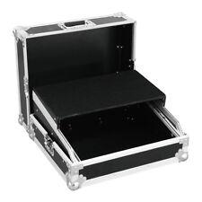 "Roadinger 10U 19"" Rack Mixer Flightcase inc. Laptop Tray DJ Disco Karaoke Band"