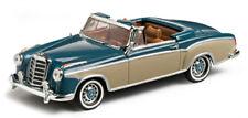 wonderful modelcar MERCEDES 220SE CONVERTIBLE 1958 - blue/darkbeige - 1/43