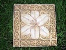 Lily tile mold plaster cement abs plastic mold mould