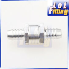 "6mm 1/4"" Fuel Non Return One Way Check Valve Petrol Diesel Aluminum Alloy"