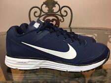 🔥Nike Lunar Clipper Turf 17' Baseball Shoes 880262-414 Navy Blue/Wht Sz 10  #14