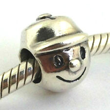 Authentic Chamilia ****Retired**** Boy Sterling Silver Bead Charm Ge-1, New
