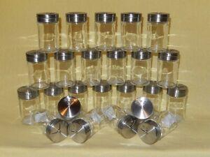 Gewürzstreuer Gewürzdosen aus Glas mit Edelstahldeckel 6er - 24er Sets