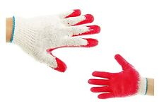 12 Pairs Working Gloves Red Latex Rubber Palm Coated =US Seller=  lot of 12 pair