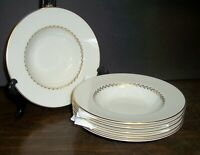 """LOT OF 6 PICKARD LAUREL SOUP BOWLS  8"""" NEVER USED FREE U S SHIPPING"""