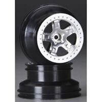 "Traxxas TRA5872 5-Spoke Satin-Chrome Wheels(2) 2.2/3.0"" F&R: 1/10 Slash 4x4"