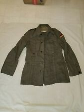 Vintage German Military Wool Coat/Jacket w/Flag Patch, Size Small, Field Jacket