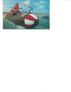 Groton, CT Submarine Launching Postcard
