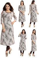 UNIFIEDCLOTHES® - WOMEN FASHION INDIAN KURTA KURTI TUNIC TOP SHIRT SC4002 Brown