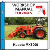 KUBOTA MX5000 MX 5000 TRACTOR SERVICE REPAIR WORKSHOP MANUAL