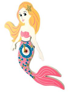Mermaid Wall Clock / Children's Wooden Mermaid Clock / Gift for Mermaid Fans
