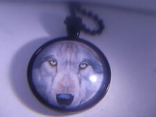 "Beautiful! Wolf pendant &18"" Necklace "" NEW """