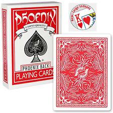 Mazzo di Carte Phoenix Large Index Rosse - Mazzi di carte da gioco