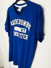 Mens PEQUEÑA Camiseta calce musculosa Abercrombie & Fitch Top Azul