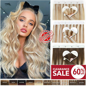 CLEARANCE 180G+ Tape In Remy Human Hair Extensions Russian Skin Weft FULL HEAD D