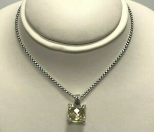 David Yurman Diamond Sterling Lemon Citrine Necklace