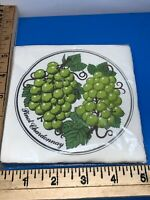 Vintage Gift Givers Pinot Chardonnay Napkins Beverage Cocktail  NOS