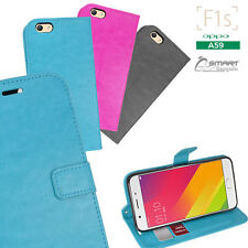 Wallet Flip Card Slot Stand Case Cover For Oppo F1s A59
