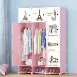 DIY Portable Wardrobe Closet Modular Storage Organizer Space Saving Cubes Shoe