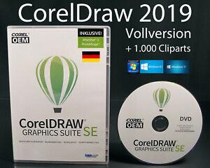 Corel Draw Graphics Suite SE 2019 Vollversion Box + DVD, Cliparts, Schritfen NEU