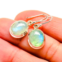 "Green Moonstone 925 Sterling Silver Earrings 1 1/4"" Ana Co Jewelry E411509F"