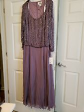 AVANTI Designs FORMAL MOTHER OF THE BRIDE/GROOM DRESS GOWN Color Heather Sz 20