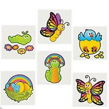 "12 New Life Temporary Tattoos 1 1/2"" Great Fun! Spring Butterfly Chick"