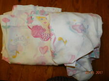 Vintage 1995 Barbie Ballerina Hearts & Roses 2 pcTwin Size Sheet Set flat fitted