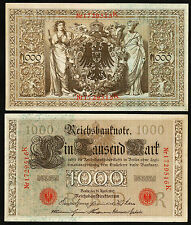 GERMANY 1000 MARK 1910, aXF, P-44B, RED SEAL