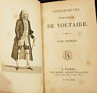"""Lot de deux livres """"Chefs d'oeuvre dramatiques de Voltaire"""" Tome 1er et 4 ème."""