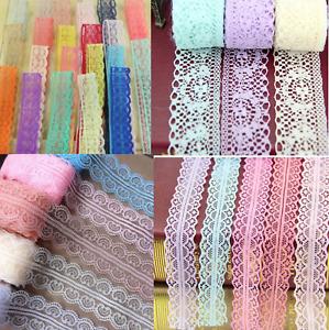 2-10m Spitze Spitzenband lace Spitzenborte Borte Polyester 30-50 mm lace trimm